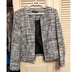 Ivanka Trump Boucle Tweed Blazer fringe Jacket